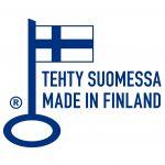 Avainlippu-logo: Tehty Suomessa/Made in Finland