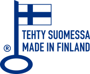 Tehty Suomessa / Made in Finland (Avainlippu-logo)